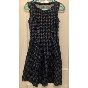 Perfect Blue Houndstooth Work Dress Sz XS